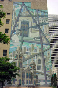 Photo of JPMorgan Chase Mural in Houston, Texas