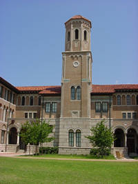 Photo of Rice University Keck Hall in Houston, Texas