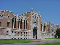 Photo of Rice University Lovett Hall in Houston, Texas