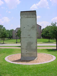 Photo of Berlin Wall Segment in Houston, Texas