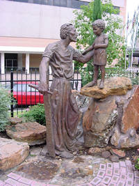 Photo of Joseph and the Christ Child in Houston, Texas