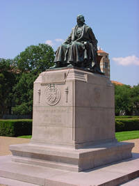 William Marsh Rice Statue in Houston, Texas