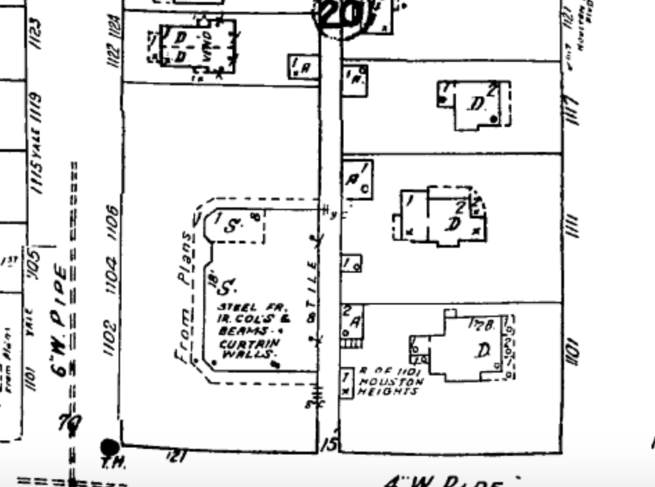 Sanborn Fire Inusrance map - Volume 7 Sheet 727 1927 - 1950.png